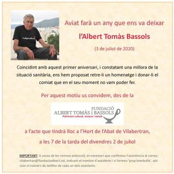 Acte en record de l'Albert Tomàs